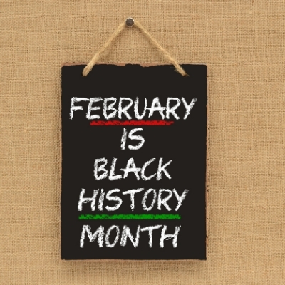february is black history month sign